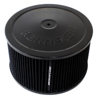 "AEROFLOW Black Air Filter Assembly - 9"" x 5"", 5-1/8"" Neck, Cleanable"