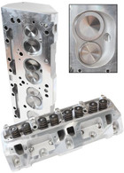 AEROFLOW Aluminium Cylinder Heads, 176cc Runner with 75cc Chamber COMPLETE - Suit S/B Chrysler 318-360