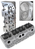 AEROFLOW Aluminium Cylinder Heads, 200cc Runner with 64cc Chamber COMPLETE - Suit S/B Chev