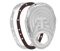 PROFLOW Chevrolet Small-Block 2-Piece Timing Cover - Silver