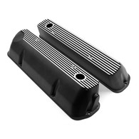 TLG Holden 304 (VN Heads) Ribbed Aluminum Valve Covers - Tall w/ Holes