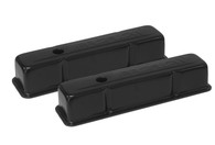 PROFLOW Stamped Steel Black Chevrolet SB Valve Covers - W/Hole