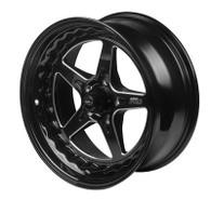 STREET PRO II GM 5x120.65 - 18x7  / 4.50' Back Space Black Wheel