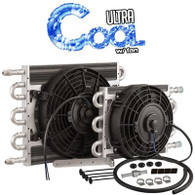 "Ultra Cool Transmission Cooler Tube and Fin with 10"" Fan 10"" x 15.5"" AN6"