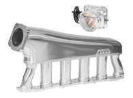 PROFLOW Inlet Plenum with 90mm T/B & Rail suit Toyota 1JZ - POLISHED