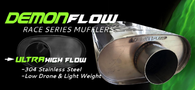 "REAPER Demonflow 4"" Straight Muffler - Stainless Steel 3"""