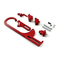 TLG Carb/TB Throttle Cable Bracket Kit - Red w/ Return Springs and Mount