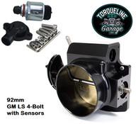 TLG GM LS 4-Bolt Billet Aluminium Throttle Body - 92mm BLACK