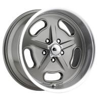 "AMERICAN LEGEND Racer Grey wheel - 18x8 with 4-3/4"" Backspace GM"