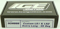 ICE IGNITION Performance Lead set - GM LS1/LS2 - 9mm Right angle plug boot - 50mm Longer than STD
