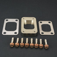 TLG T3 to T4 CNC Turbo flange adaptor kit - OPEN