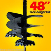 "48"" Tree Auger Bit For Skid Steer Augers,Fits 2"" Hex Auger Drive,Fit Most,NEW"