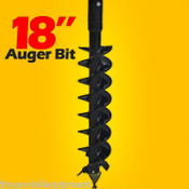 "18""x48"" Auger Bit for Post Hole Auger, 2"" Hex Drive, For Skid Steer Loaders"