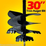 "30"" Tree Auger Bit For Skid Steer Augers,Uses 2.56 Round Drive,McMillen,In Stock"