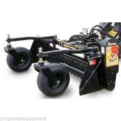 8' Harley Power Landscape Rake, Manual Angle, Standard Hydraulics, Fits all Skid Steers