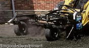 6' Harley Landscape Power Rake,  Hydraulic Angle, Fits All Skid Steers