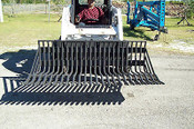 "75"" Bradco Rock Bucket, Clearing Rake, Fits all Skid Steers, 2"" Spacing"