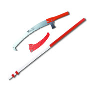 "Pole Saw Kit,Telescopic 7 Ft to 18.4 Pole,16"" Blade with Hook,Sheath,Made Japan"