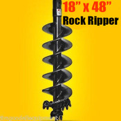 "18""x48"" Rock Ripper Auger Bit,2"" Hex Drive,Extreme Duty,Rock & Frozen Dirt"