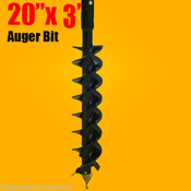 "20""x 3' Auger Bit HDC 2"" Hex, For Difficult Digging Conditions,Made In USA"