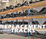 """Kubota SVL90-95 Replacement 18"""" Rubber Track, One Track"""