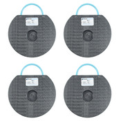 "4 Pack of 12"" Outrigger Pads for Boom Lifts 25,000 Lb Load Limit Per Pad"