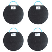 "4 Pack of 15"" Outrigger Pads for Boom Lifts, 35,000 Lb Load Limit Per Pad"