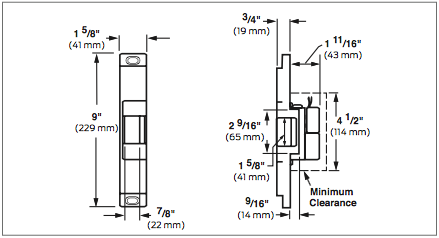 Von Duprin 6100 Series 6112 12VDC Fail Secure Heavy Duty