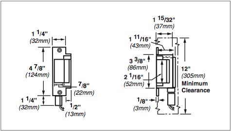 Von Duprin 6200 Series 6211 24VDC Fail Secure Grade 1