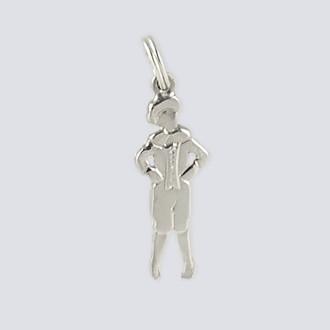 Mother Ginger Boy Charm - Nutcracker Dance Jewelry Silver