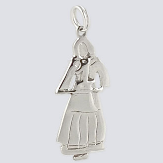 Maid Charm - Nutcracker Dance Jewelry Silver