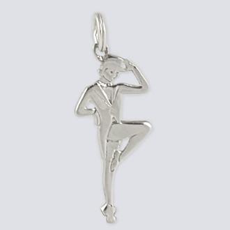 Tap Dancer Charm - Nutcracker Dance Jewelry Silver
