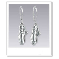Pointe Shoe Earrings - Silver Dance Jewelry Collection