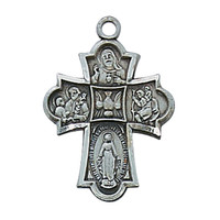 (AN1810BK) ANTIQUE SILVER 4WAY MEDAL