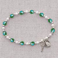 (BR211C) PERIDOT/AUGUST STRETCH BRACELT