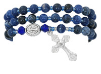 (BR632C) BLUE LAPIS TWISTABLE BRACELET