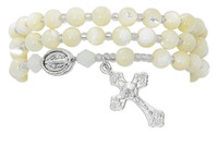 (BR647C) SHELL JASPE TWISTABLE BRACELET