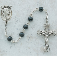 (C14RB) 5MM HEMATITE ROSARY