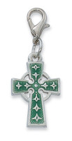 (CL8083E) ENAMEL CELTIC CROSS CLIP CHARM