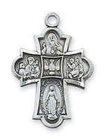 (D1810) PEWTER 4-WAY MEDAL