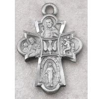 "(D2410C) PEWTER 4WAY MEDAL 24""CH&CARD"