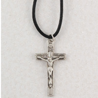 (D6032LC) PEWTER CRUCIFIX CORD/CARD