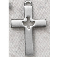(D618C) PEWTER CROSS CARDED