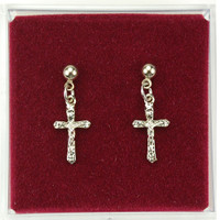 (ERC66P) RF CRUCIFIX EARRINGS P BOX