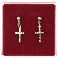 (ERC8001P) RF CROSS EARRINGS