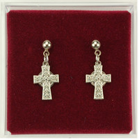(ERC8023P) RF CELTIC CROSS EARRINGS