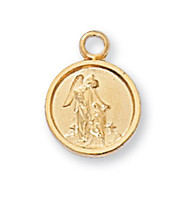"(J107GA) G/SS GUARD ANGEL MEDAL 16"" C+B"