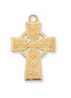 (J8083) G/SS CELTIC CROSS 18CH&BX""