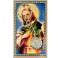 (KRD575JUC) ST JUDE KEYRING/PRAYER CARD