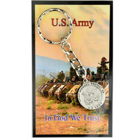 (KRD650AMC) ARMY KEYRING/PRAYER CARD SET